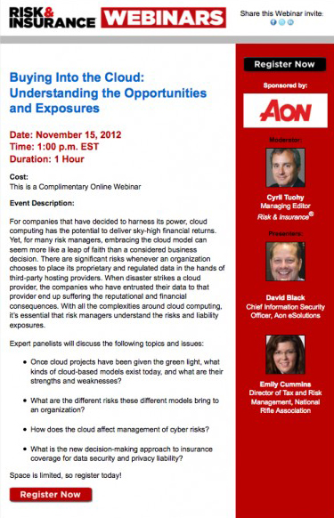 Cloud computing webinar