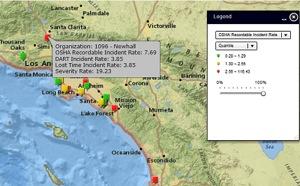 risk mapping location comparison