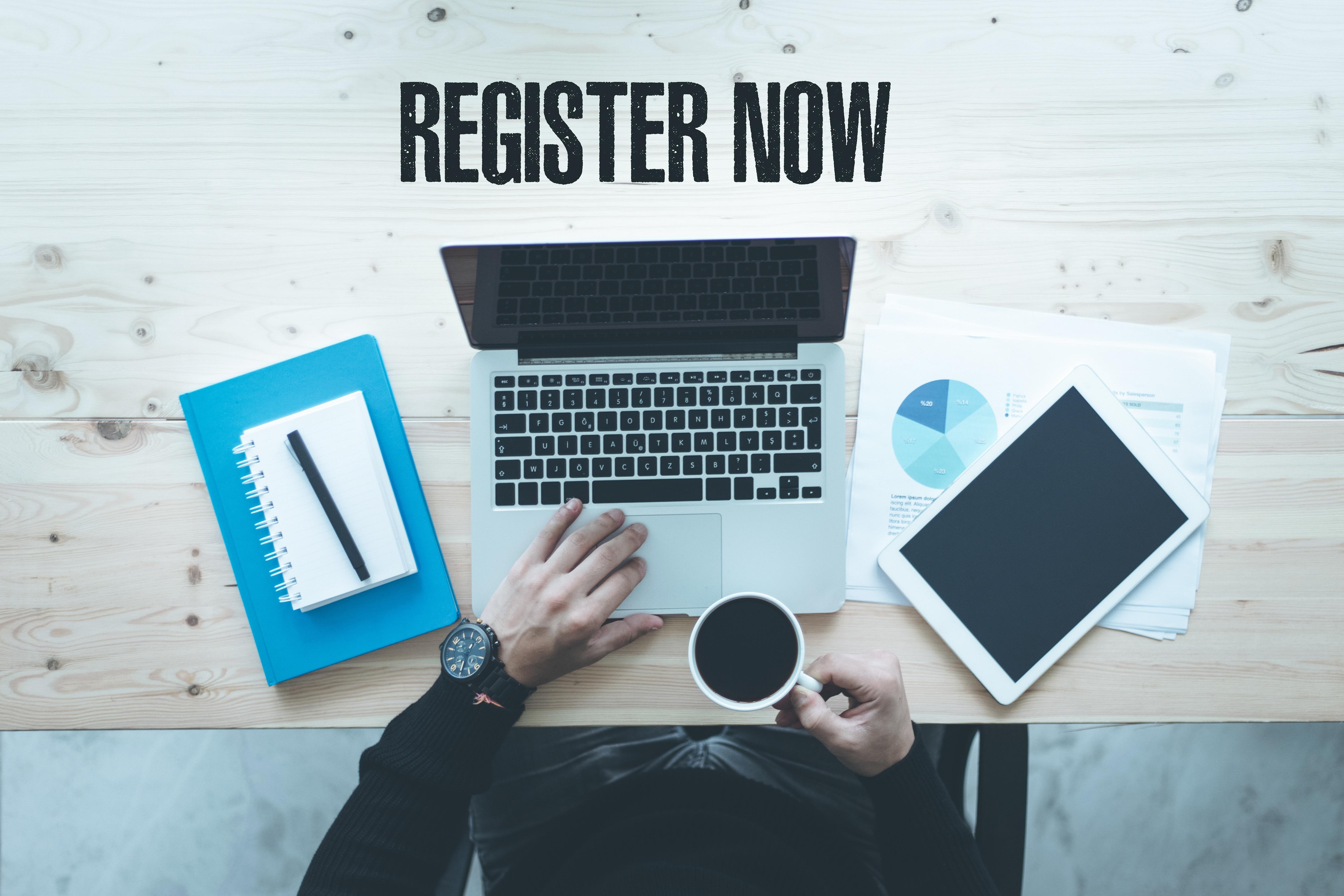 Register (your risks) now!